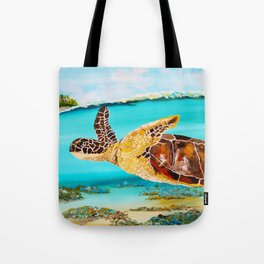 Swimming Free Tote Bag