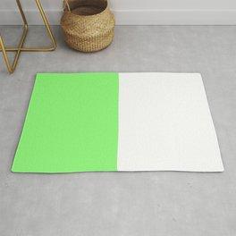 Lime|White Rug