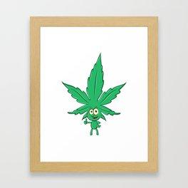 fun marijuana cartoon Framed Art Print