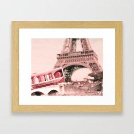 Paris in Blush Pink I Framed Art Print