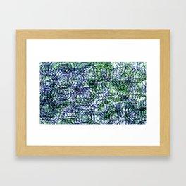 Generative Expressionist Sketch Series 1065 #5 Framed Art Print