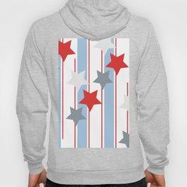 Stripes and Stars Retro Mix Pattern Hoody