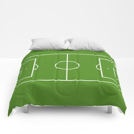 Football field fun design soccer field Comforters