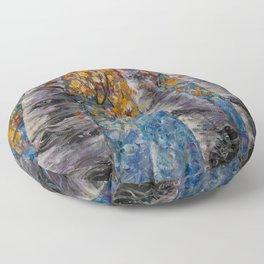 Aspen Trees by OLena Art Floor Pillow