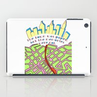paper towns iPad Cases featuring Paper Towns by green.lime