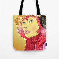 superheroes Tote Bags featuring Superheroes SF by Vasco Vicente