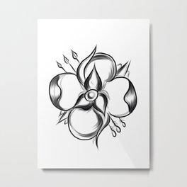 La Dispute Flower Metal Print
