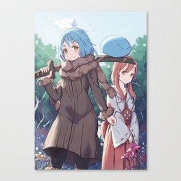 Tensei Shitara Slime Datta Ken Rimuru & Shuna Canvas Print