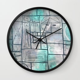 Adolph Gottlieb - Labyrinth No. 2 , 1950 Wall Clock