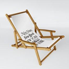 I Heart New York City Black and White New York Poster I Love NYC Design black-white home wall decor Sling Chair