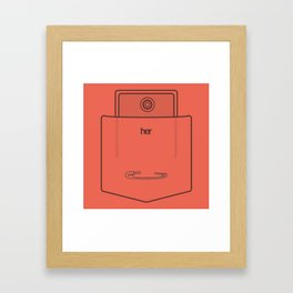 "Her Pocket - From the Movie ""Her"" Framed Art Print"