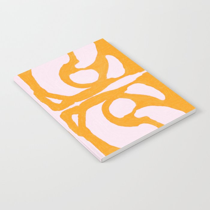 Abstract in Yellow and Cream Notebook