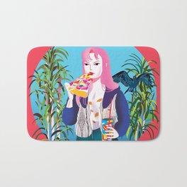 Pizza Girl Bath Mat