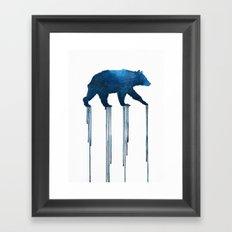 indigo bear Framed Art Print