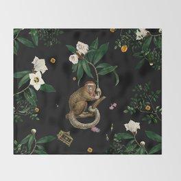 Monkey World: Amber-Ella Throw Blanket