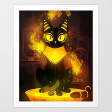Bastet- the Goddess of Cats Art Print