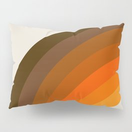 Retro Golden Rainbow - Left Side Pillow Sham