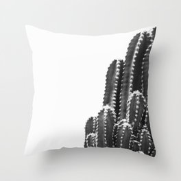 black cactus Throw Pillow