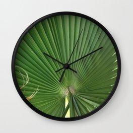 Palm Frond (circle week) Wall Clock