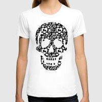 roller derby T-shirts featuring Roller derby Skull Print by Mean Streak