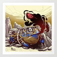 soul eater Art Prints featuring soul eater by takcooper