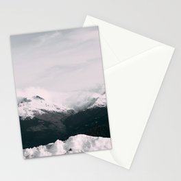 Mountain relief Alps Stationery Cards