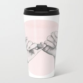 pinky swear // hand study Metal Travel Mug