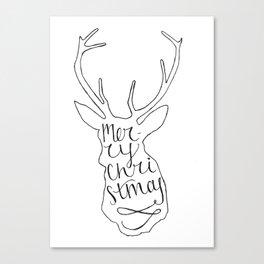 Merry Christmas Deer (2) Canvas Print