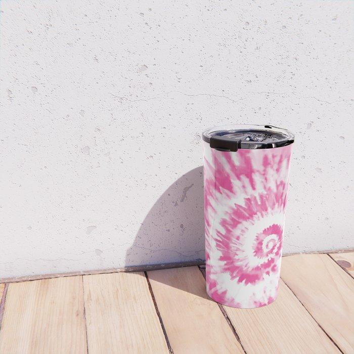 Light Pink Tie Dye Travel Mug