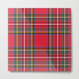 Red & Green Tartan Pattern Metal Print