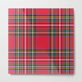 Red & Green Tartan Pattern Metal Print