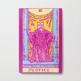 Justice - A Femme Tarot Card Metal Print