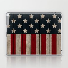 Patriotic Wood Texture #2 Laptop & iPad Skin