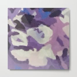 Purple Abstract Metal Print