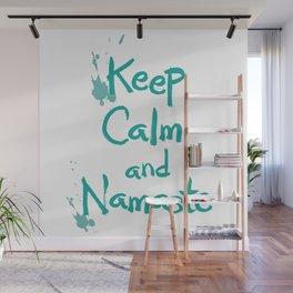 Keep Calm and Namaste Wall Mural