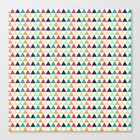 triangle Canvas Prints featuring triangle by Sébastien BOUVIER