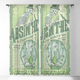 Vintage 1871 Absinthe Liquor Skeleton Elixir Aperitif Cocktail Alcohol Advertisement Poster Sheer Curtain