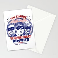 The League of Extraordinary Dimwits Stationery Cards