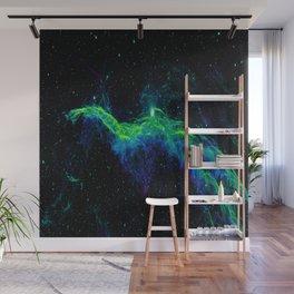 Veil Nebula Green Blue Wall Mural