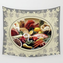 Thanksgiving Dinner and Autumn Decoration. Wall Tapestry