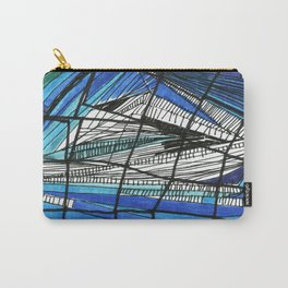 Black and blues Carry-All Pouch