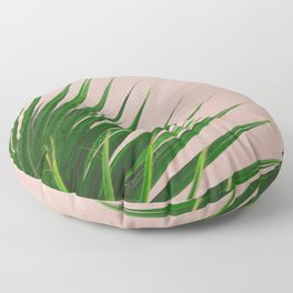 Summer Time | Palm Leaves Photo Floor Pillow