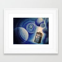 tardis Framed Art Prints featuring TARDIS by Colunga-Art