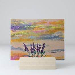 Lavender and rainbows Mini Art Print