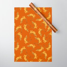 Tigers orange Wrapping Paper