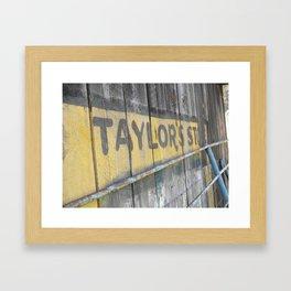 Past is Present 11 Framed Art Print
