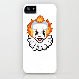 Evil clown iPhone Case