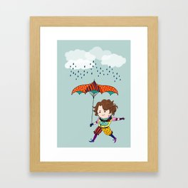 Jehan Dancing in the Rain Framed Art Print