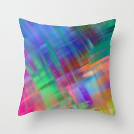 Abstract pink teal lilac green watercolor brushstrokes Throw Pillow
