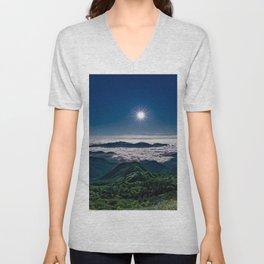 Moonlight Sonata Mountainous Clouds Photographic Unisex V-Neck